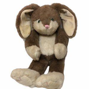 "HTF Boyds Bears Bunny Rabbit Brown Cream Plush 14"""